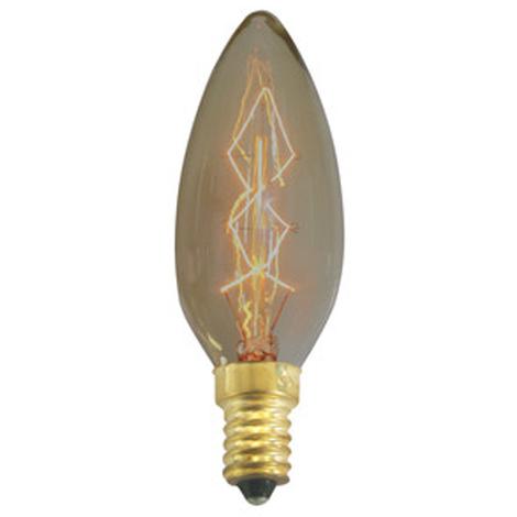 Bombilla decorativa de vela Electro DH, vela de filamento carbono, rosca E14, potencia 40 W, 80.670/40