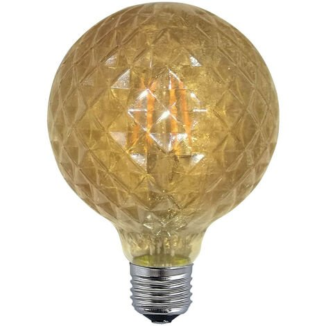 BOMBILLA DECORATIVA LED BALÓN COLOR ÁMBAR E27 6W