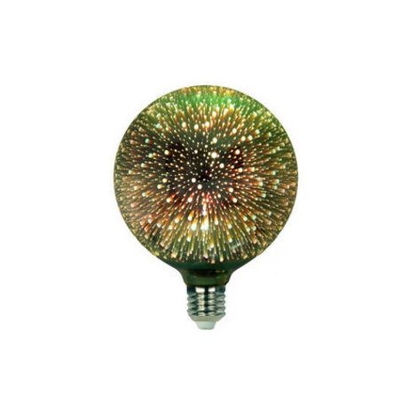 Bombilla Decorativa Led G125 3d 4w 230vac E27 Verde 81.172/3d/v