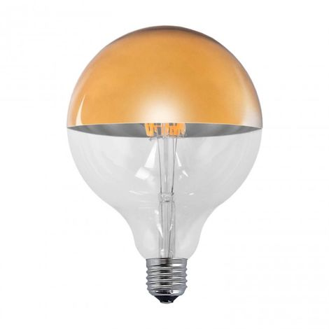 Bombilla decorativa LED ORO E27 6W 2300k Ø 12.5 cm