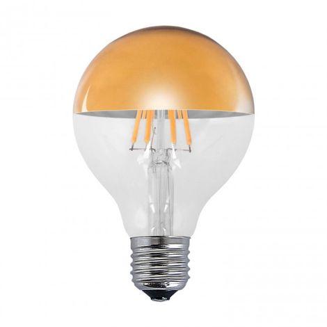 Bombilla decorativa LED ORO E27 6W 2300k Ø 8 cm