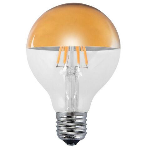 BOMBILLA DECORATIVA LED ORO E27 6W 2300K Ø8cm