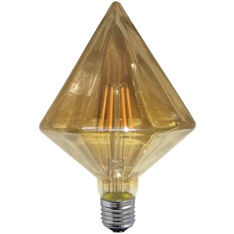 BOMBILLA DECORATIVA LED PIRÁMIDE COLOR ÁMBAR E27 6W