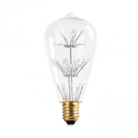 Bombilla decorativa LED ST64 2W Cristal 2700k