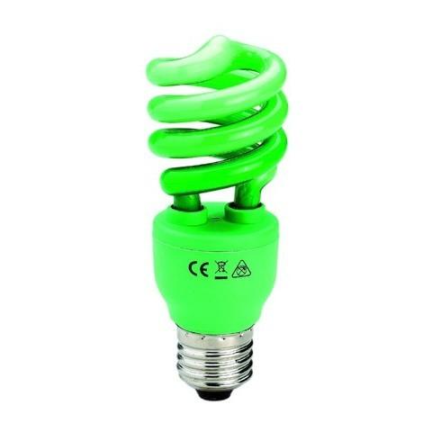 Bombilla decorativa luz verde (13W)