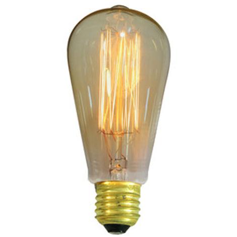 Bombilla decorativa Ovoide Electro DH de 25 W, filamento de carbono, casquillo E27, 80.671/25