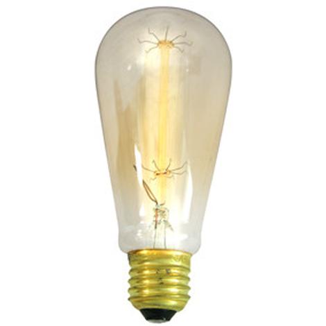 Bombilla decorativa Ovoide Electro DH, potencia 40 W, filamento de carbono, toma E27, 80.671/40