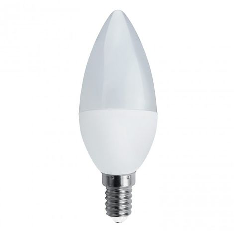Bombilla Decorativa Vela LED E14 6W 4000K