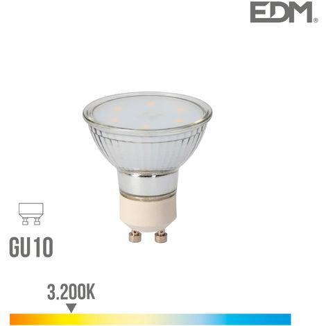 Bombilla dicroica cristal led gu10 5w 400 lm 3200k luz calida edm