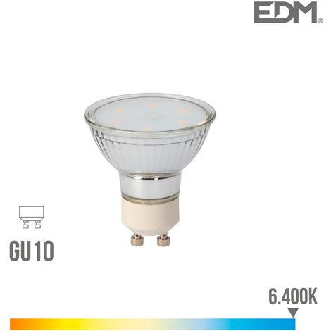 Bombilla dicroica cristal led gu10 5w 400 lm 6400k luz fria edm