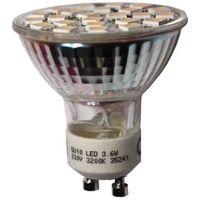BOMBILLA DICROICA GU-10 24 LEDS SMD 3,6W 280 LUMENS 3.200K LUZ CALIDA APERTURA 120° EDM