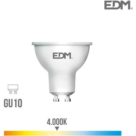Bombilla Dicroica Gu10 Smd Led 5W 450 Lumens Luz Dia 4.000K Apertura 120º Lumeco