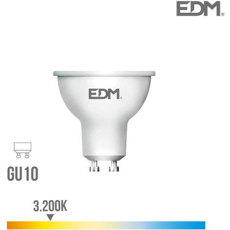 Bombilla dicroica GU10 SMD led 5W 450Lm Luz Cálida 3000K apertura 120º Lumeco