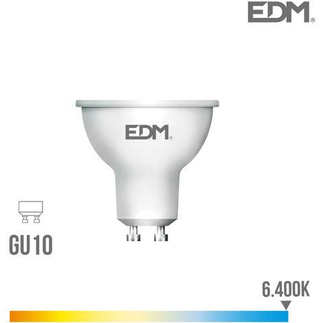 Bombilla dicroica GU10 SMD led 5W 450Lm Luz Fría 6000K apertura 120º Lumeco