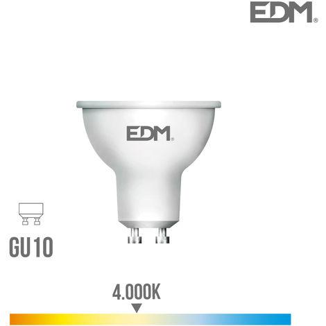 BOMBILLA DICROICA LED GU10 5W 450 LM 4000K LUZ DIA EDM