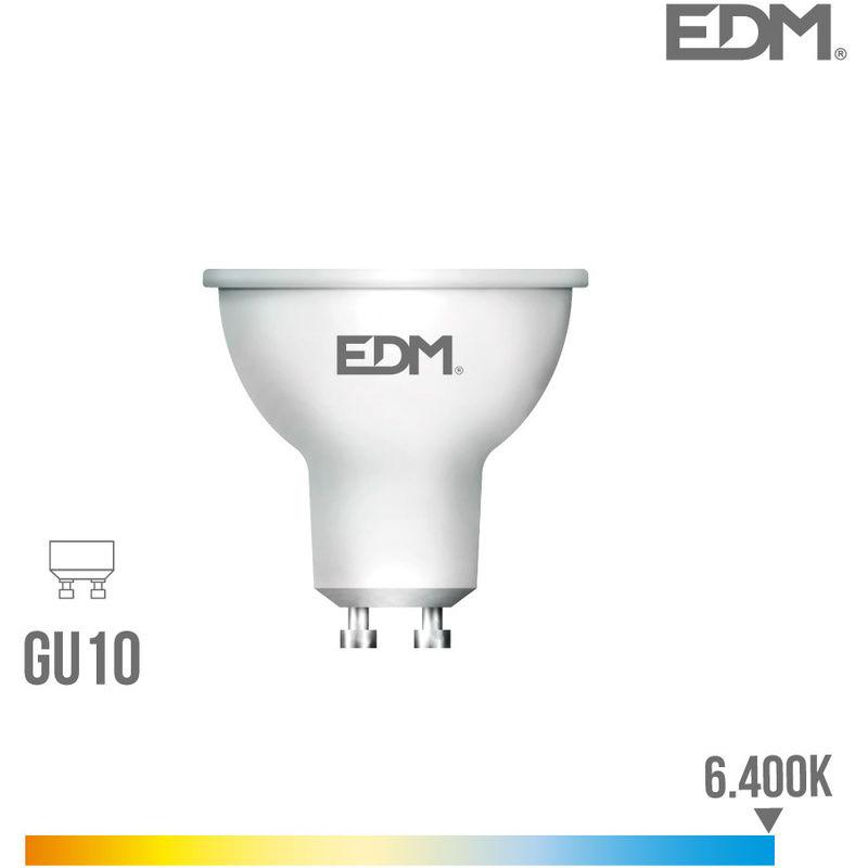 EDM - Bombilla Dicroica Gu10 Smd Led 5W 450 Lumens Luz Fria 6.400K Apertura 120º Lumeco - NEOFERR..