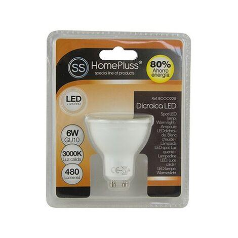 Bombilla dicroica LED GU10 6W 480lm