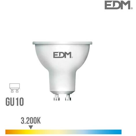 Bombilla dicroica LED GU10 8w 600 lm 3200k luz calida EDM 35385