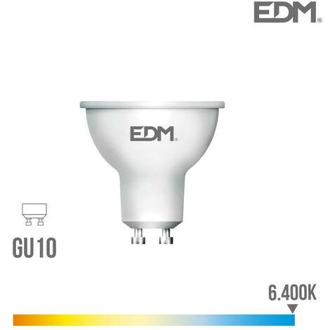 Bombilla dicroica LED GU10 8w 600 lm 6400k luz fria EDM 35386