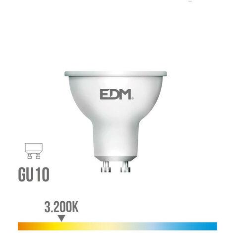 BOMBILLA DICROICA LED GU10 8W 600LM 3200K LUZ CALIDA EDM - NEOFERR
