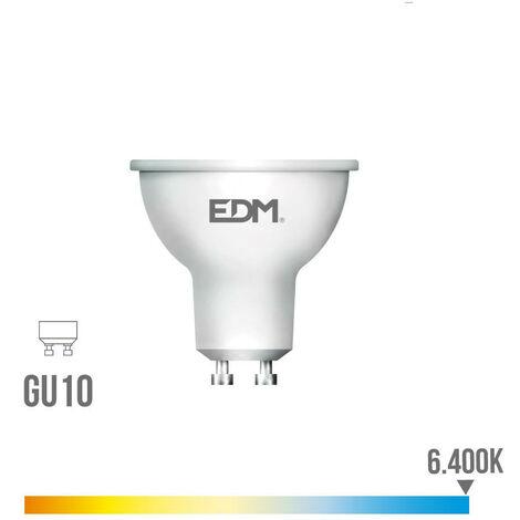 BOMBILLA DICROICA LED GU10 8W 600LM 6400K LUZ FRIA EDM - NEOFERR