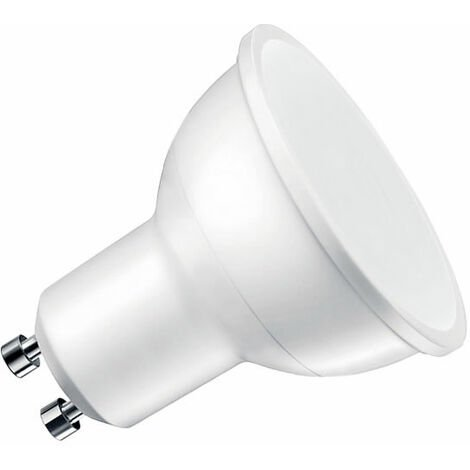 Bombilla dicroica LED GU10 SMD, 100º, 8W, Blanco cálido