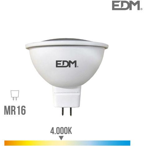BOMBILLA DICROICA LED GU5.3 12V 5W 450 LM 4000K LUZ DIA EDM