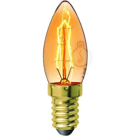 Bombilla E14 - Filamento Carbono - Ámbar - Dimable- Blanco Cálido [AM-AV354_2] | Blanco Cálido (AM-AV354_2)