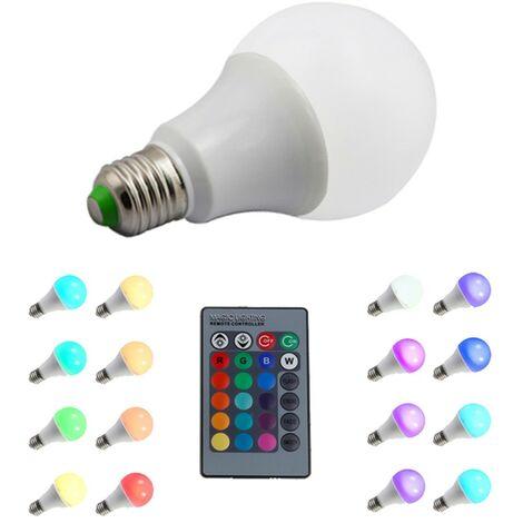 Bombilla E27 RGB 10W con control remoto
