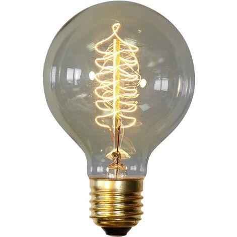 Bombilla Edison Spiral de filamentos Transparente