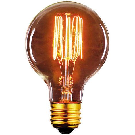 Bombilla Edison Vintage Globo E27 40W 2700°K 80x120mm. (F-BRIGHT 2603007)