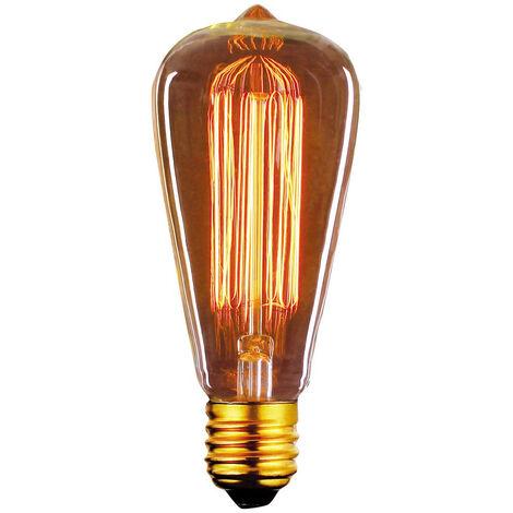 Bombilla Edison Vintage Pera E27 40W 2700°K 60x142mm. (F-BRIGHT 2603004)