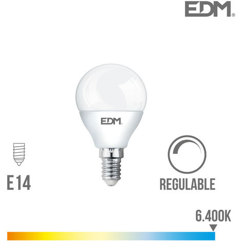 Bombilla esférica 5,5W Led Regulable EDM E14 -Disponible en varias versiones