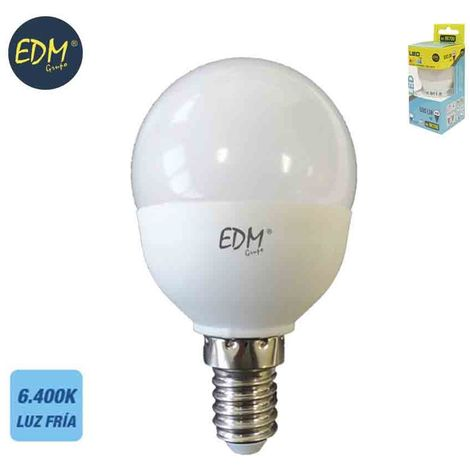 Bombilla esférica 6W led EDM E14 -Disponible en varias versiones