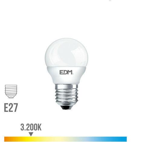 Bombilla esférica 6W led EDM E27 -Disponible en varias versiones
