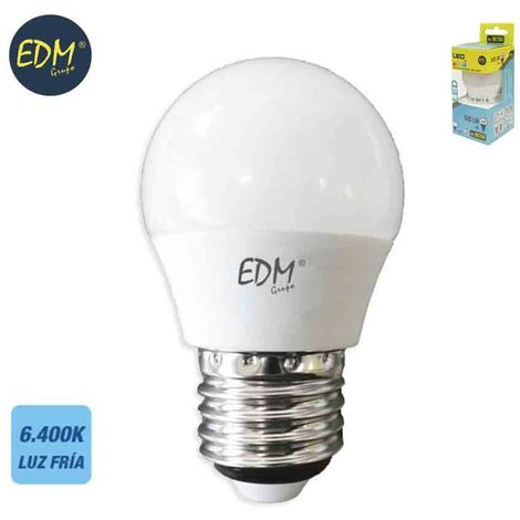 Bombilla esférica 6W led EDM E27 -Disponible en varias versiones