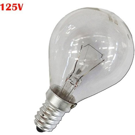 Bombilla Esferica Clara 40W E14 125V (Solo Uso Industrial)