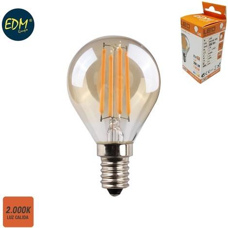 Bombilla Esferica Filamento Led Cristal Vintage 4.5W E14 350 Lumens 2.000K - NEOFERR