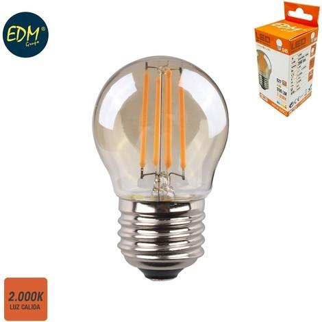 Bombilla Esferica Filamento Led Cristal Vintage 4.5W E27 350 Lumens 2.000K - NEOFERR
