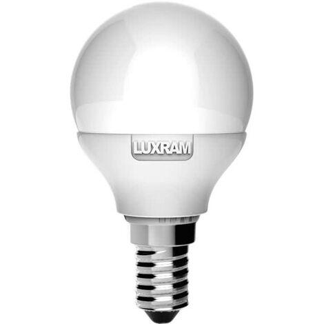 Bombilla esferica led 4W 4000K E14 Luxram - Blanco