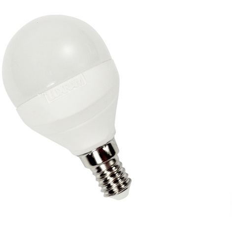 Bombilla esférica led 5W E14 Luxram -Disponible en varias versiones
