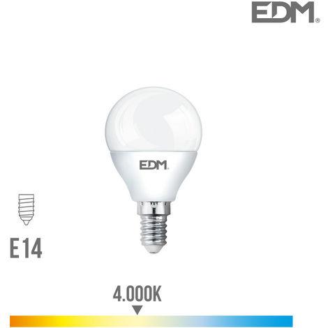 Bombilla Esferica Led 6W 500 Lumens E14 4.000K - NEOFERR