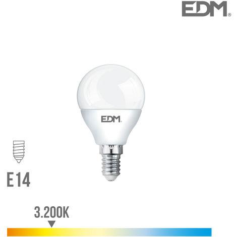 Bombilla esferica led e14 5w 400 lm 3200k luz calida edm