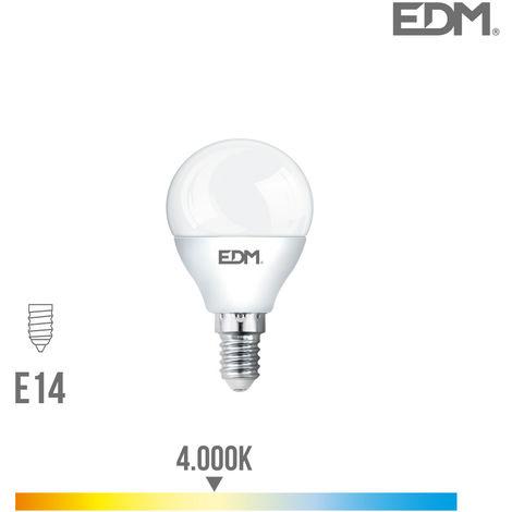 Bombilla esferica led e14 5w 400 lm 4000k luz dia edm