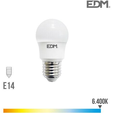 BOMBILLA ESFERICA LED E14 8.5W 940 LM 6400K LUZ FRIA EDM - NEOFERR..