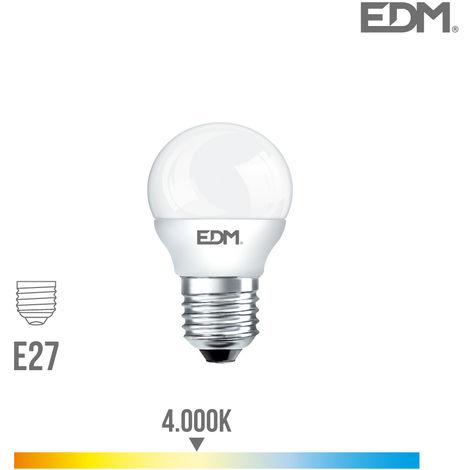 BOMBILLA ESFERICA LED E27 7W 600 LM 4000K LUZ DIA EDM