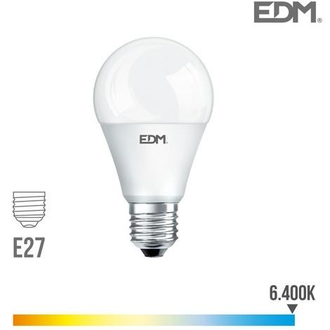 Bombilla Estandard led SMD 12W e27 6000K Luz Fría 1055 Lm EDM