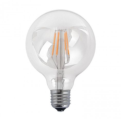 Bombilla filamento decorativa LED E27 6W 2300k Ø 95 mm