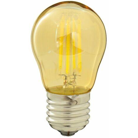 Bombilla filamento LED 4W G45 dorada rosca E27 Blanco 6000K