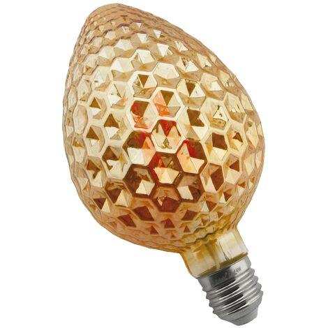 Bombilla filamento led piña diamante E27 8W Ámbar - Ámbar
